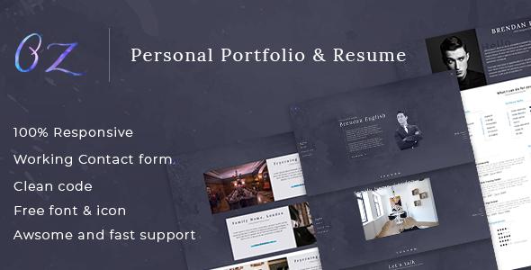 Oz - Multipurpose Portfolio HTML Template            TFx Lucas Cedric