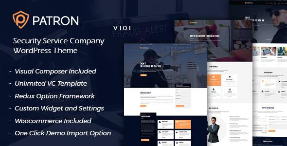 Patron - Security Service Company WordPress Theme            TFx Quintilian Terell