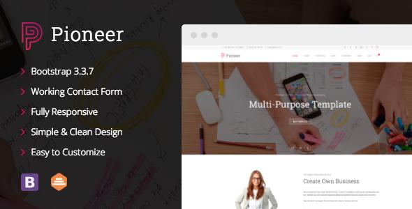 Pioneer – Multi-Purpose  Corporate Joomla Template            TFx Quincey Howard
