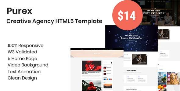 Purex - Creative Agency HTML5 Template            TFx Norris Ladislas