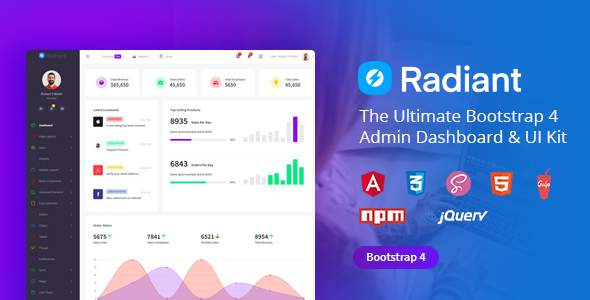 Radiant Bootstrap 4 Admin Template            TFx Shirou Weston