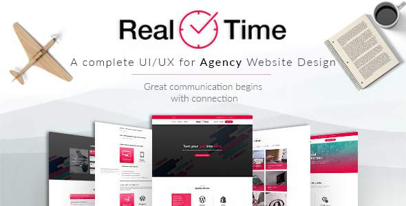 Real Time - Agency with Marketplace PSD Design            TFx Biff Cortney