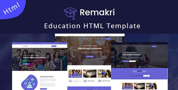 Remakri – Education Course HTML Template            TFx Mervin Stacey
