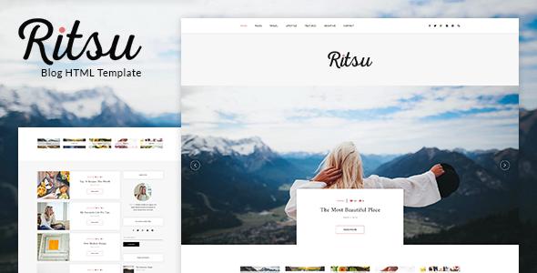 Ritsu - Responsive Blog HTML Template            TFx Ryota Norton