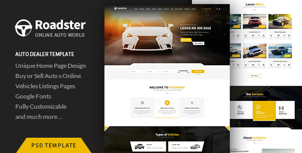 Roadster - PSD Template            TFx Rowland Lindon