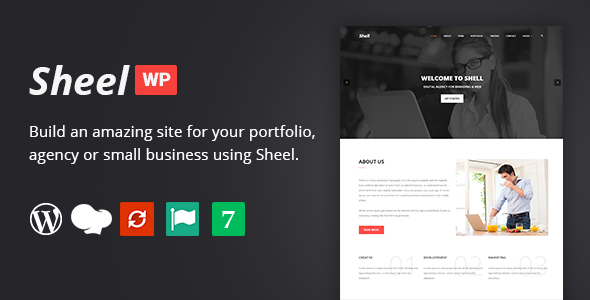 Sheel - Creative Agency and Business Landing Page WordPress Theme            TFx Ivan Putu