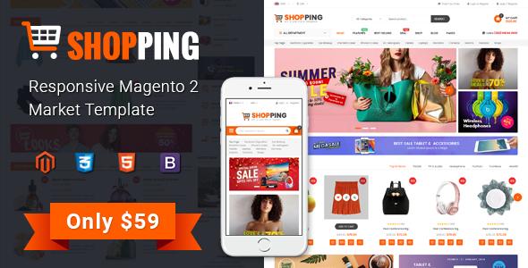 Shopping – Multipurporse eCommerce Magento 2 Theme            TFx Sah Shayne