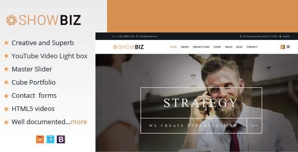 Showbiz - Multipages Business HTML Template            TFx Dee Abdul