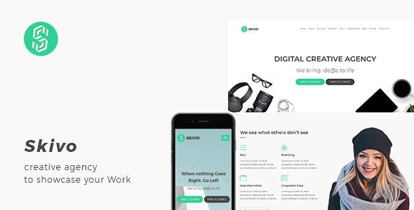 Skivo - Creative Agency Landing Page with Blog            TFx Alden Made
