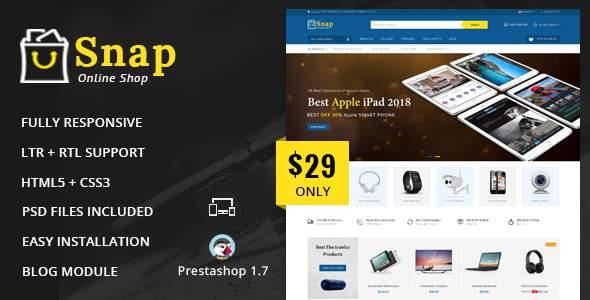 Snap – Electronics Prestashop 1.7 Responsive Theme            TFx Kaiden Cairo