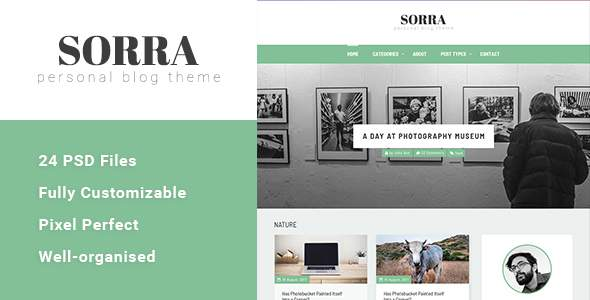 Sorra - Personal Blog PSD Template            TFx Kingston Ed