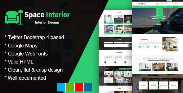 Space Interior - HTML Template for Architecture, Construction, and Interior Design            TFx Hamnet Irnerius