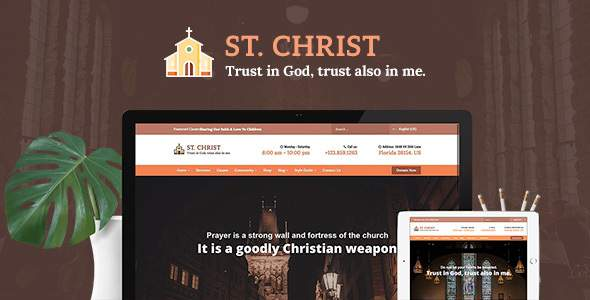 St. Christ - Church & Charity Joomla Template            TFx Cal Grenville