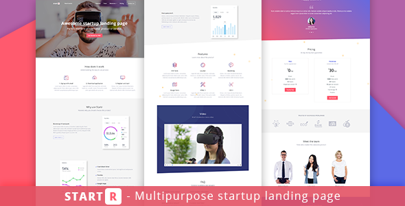 Startr – Multipurpose Startup Landing Page            TFx Xquenda Kam