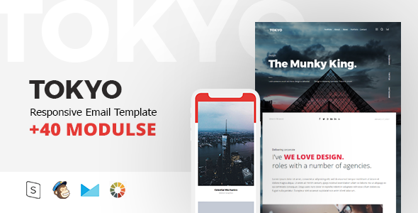 TOKYO Mail – Responsive Email Template Minimal            TFx Westley Edmund