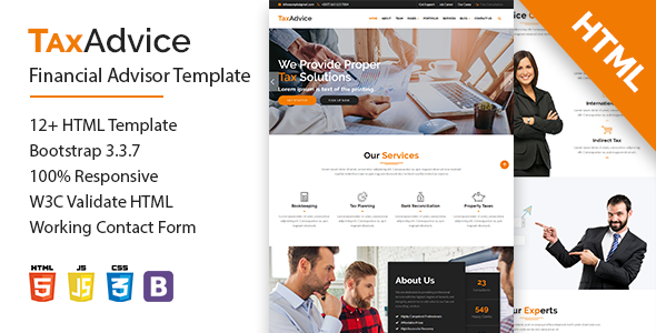 TaxAdvice-Financial Advisor Multipage Template            TFx Craig Earle