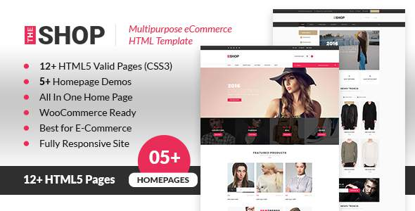 The Shop | Multipurpose e-commerce HTML Template            TFx Eldred Angus