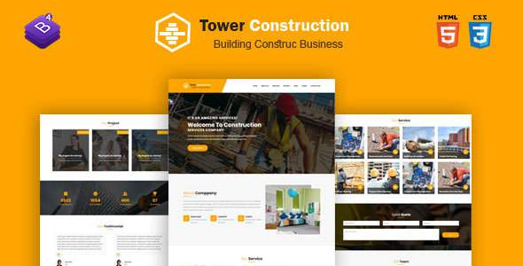 Tower Construction – Construction Template for Architect and Construction            TFx Sora Saburo