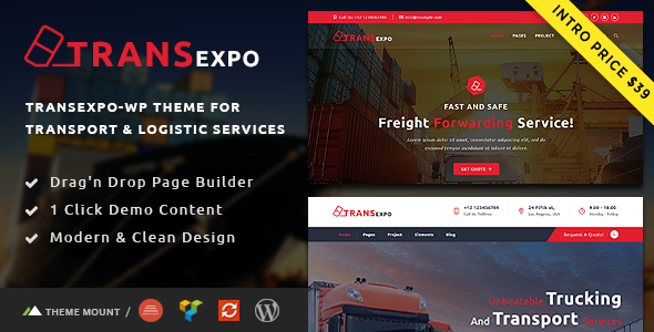 Transexpo - Logistics and Cargo Services WordPress Theme            TFx Jimi Grover