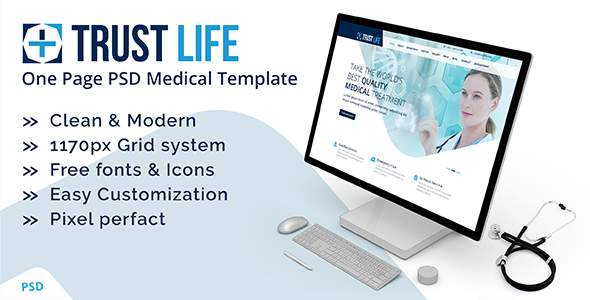 Trustlife - one page PSD Medical template            TFx Chaz Thane