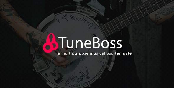 TuneBoss - Music & Portfolio PSD Template            TFx Kip Rouben