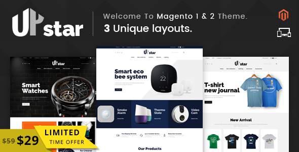 UpStar – Responsive Magento 1 & 2 Theme            TFx Russell Fredrick
