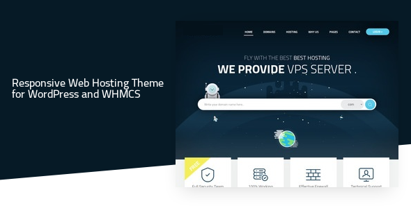Valence - Website Hosting Company WordPress Theme + WHMCS            TFx Arata Takeshi