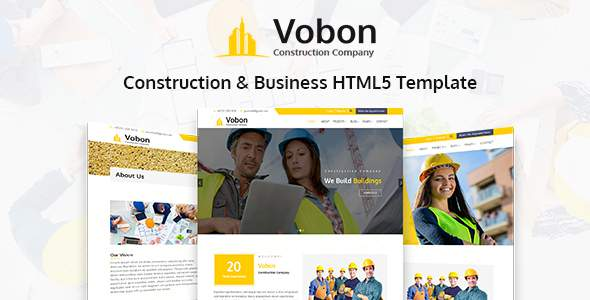 Vobon | Construction And Business HTML5 Template            TFx Goyathlay Daiki