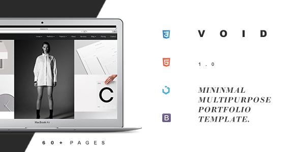 Void – Minimal Multi-Purpose Creative Portfolio            TFx Onangwatgo Maynerd