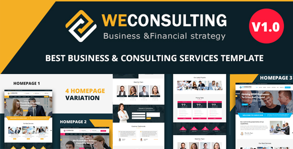 WECONSULTING – Responsive BootStrap Drupal 8.5 Theme            TFx Gabriel Ben