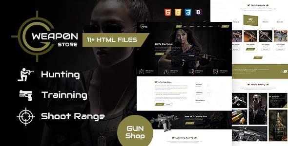 Weapon Store – Gun Shop HTML Template            TFx Iman Scotty