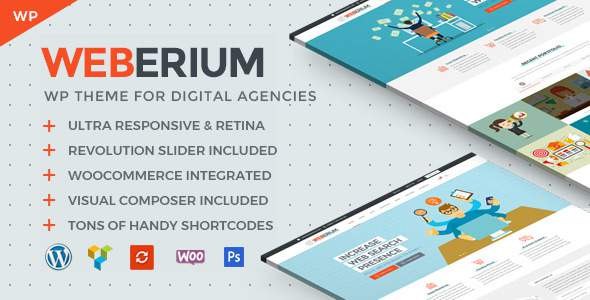 Weberium | Responsive WordPress Theme Tailored for Digital Agencies            TFx Errol Braith