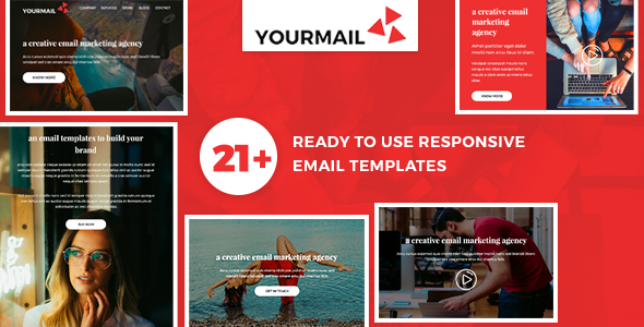 Yourmail – 21 High Converting Email Marketing Templates + Fully Responsive + Powerful Online Builder            TFx Baxter Chadwick