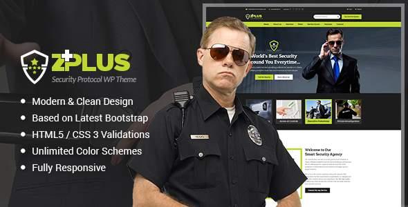 Zplus - Security Protocol Responsive WordPress Theme            TFx Jessie Takuya