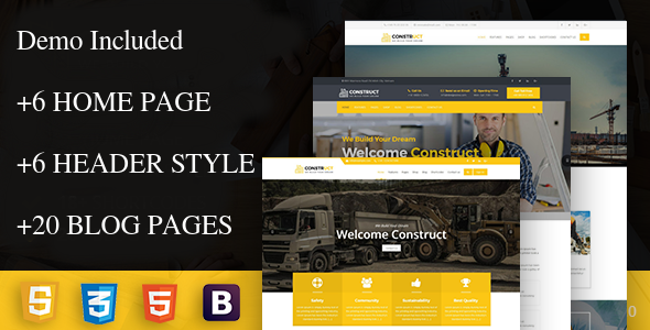 construct - Construction Corporate Business Drupal 8 Theme            TFx Kian Marlin