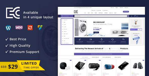 eCode - Multipurpose WooCommerce Theme            TFx Seward Lee