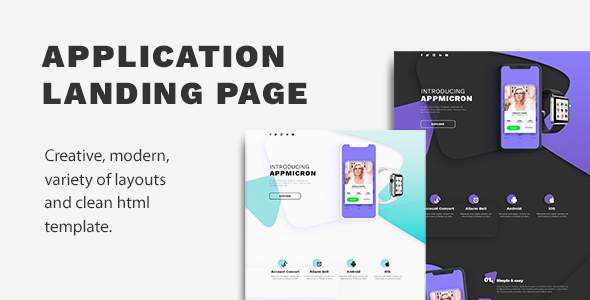 APPMICRON – HTML Application Landing Page            TFx Titus Harta