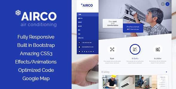 Airco - Air Condition & Heating HTML Template            TFx Xerxes Oscar