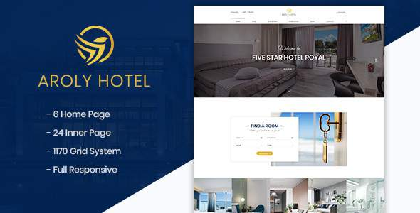 Aroly | Hotel and Accommodation Booking PSD Template            TFx Oz Kerr