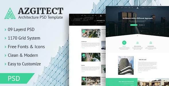 Azgitect - Architecture PSD Template            TFx Blake Leon
