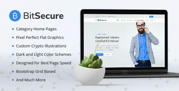 BitSecure - Cryptocurrency PSD Template            TFx Jonny Melville