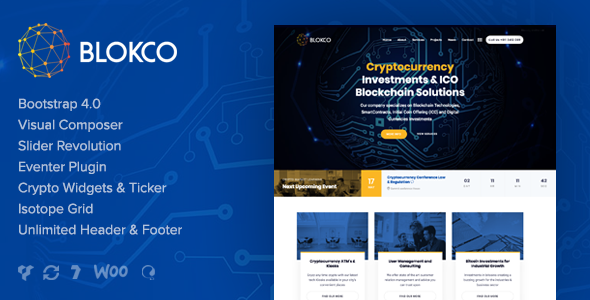 Blokco - Cryptocurrency WordPress Theme            TFx Lance Upton