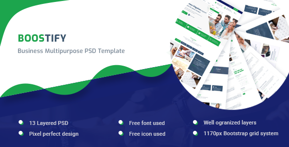 Boostify - Business Multipurpose PSD template            TFx Fredrick Ricky