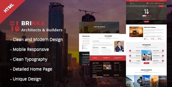 Brikka - Building and Construction HTML Template            TFx Poghos Baishan