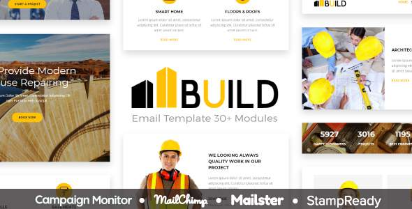 Build - Responsive Email Template 30+ Modules - StampReady Builder + Mailster & Mailchimp Editor            TFx Wilkie Ritchie