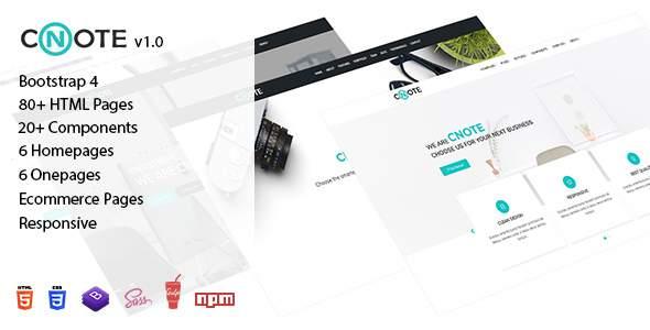 Cnote - Responsive Website Template            TFx Shaun Gilbert