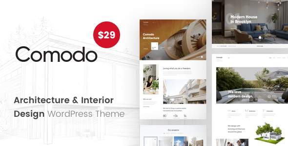 Comodo - Architecture And Interior Design WordPress Theme            TFx Ronnie Leland