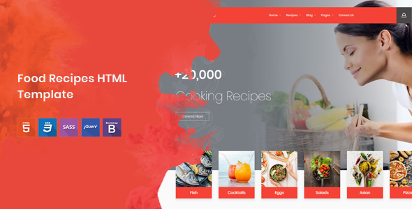 Cook Note - Food Recipes HTML Template            TFx Dean Dax