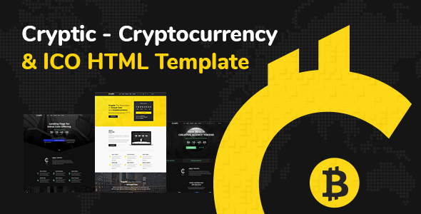 Cryptic - Cryptocurrency & ICO Landing Page HTML Template            TFx Katsurou Basil