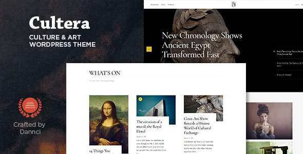 Cultera - Art & Culture WordPress Theme            TFx Finley Maitland